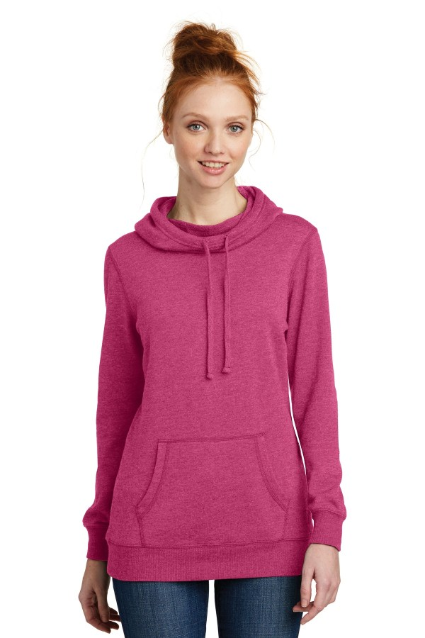 District  Women's Lightweight Fleece Hoodie. DM493