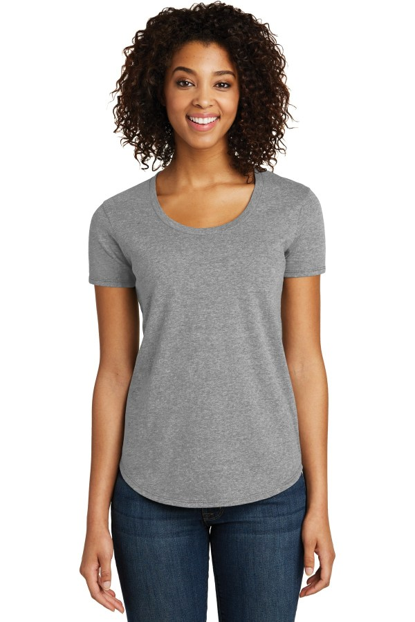 District Women's Fitted Very Important Tee Scoop Neck. DT6401