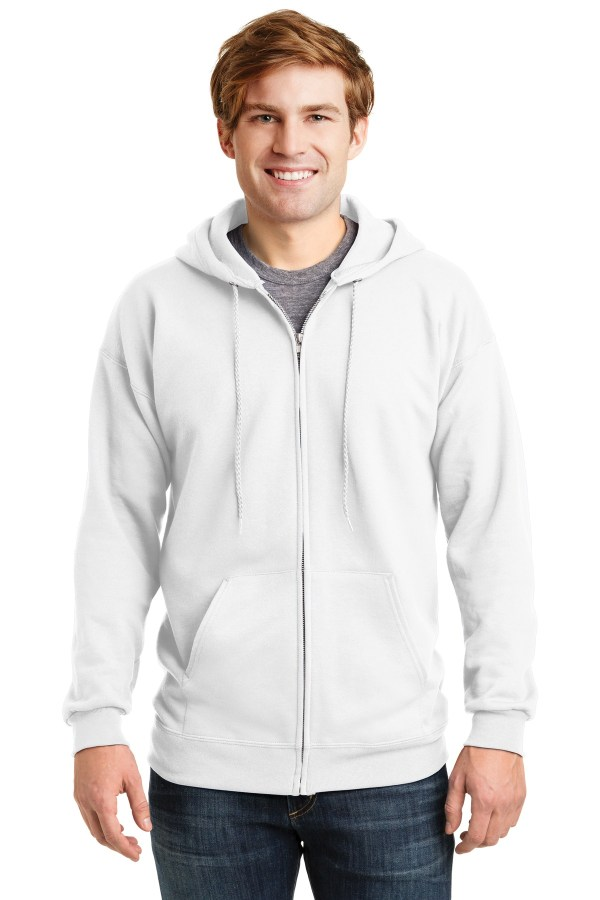 Hanes Ultimate Cotton - Full-Zip Hooded Sweatshirt.  F283