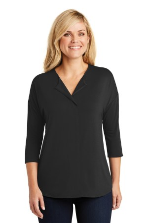 Port Authority Ladies Concept 3/4-Sleeve Soft Split Neck Top. LK5433