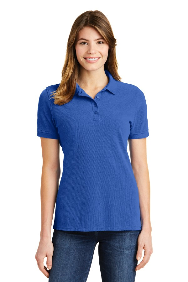 Port & Company Ladies Ring Spun Pique Polo. LKP1500