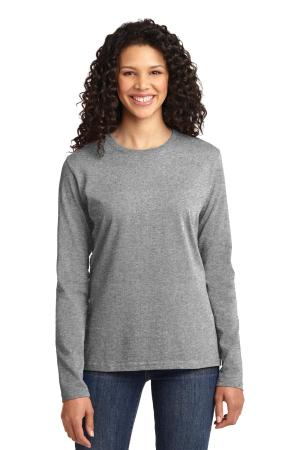 Port & Company Ladies Long Sleeve Core Cotton Tee. LPC54LS