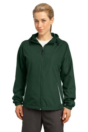 Sport-Tek Ladies Colorblock Hooded Raglan Jacket. LST76