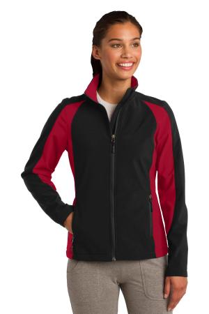 Sport-Tek Ladies Colorblock Soft Shell Jacket. LST970