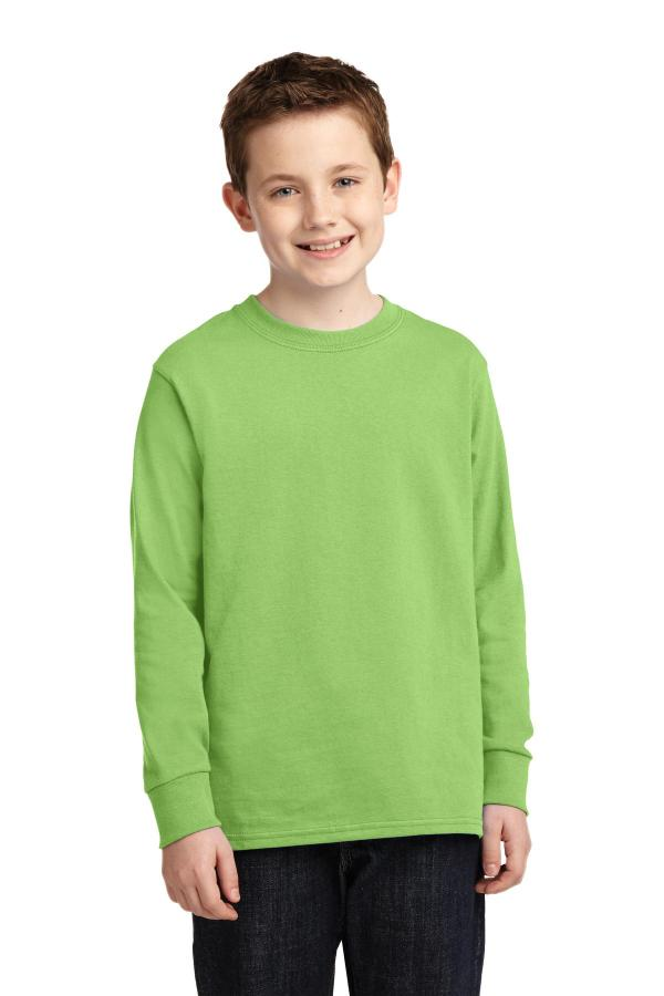 Port & Company Youth Long Sleeve Core Cotton Tee. PC54YLS