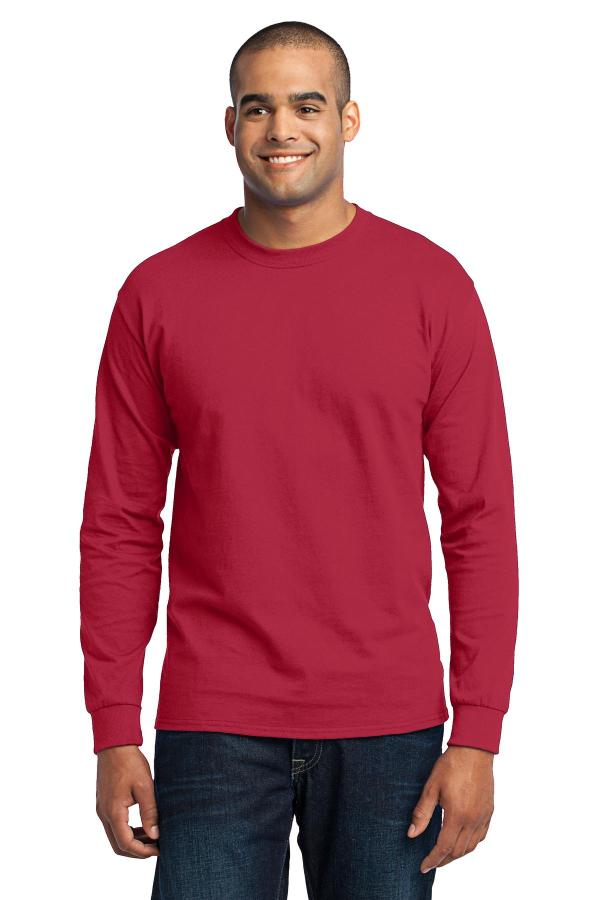 Port & Company Tall Long Sleeve Core Blend Tee. PC55LST