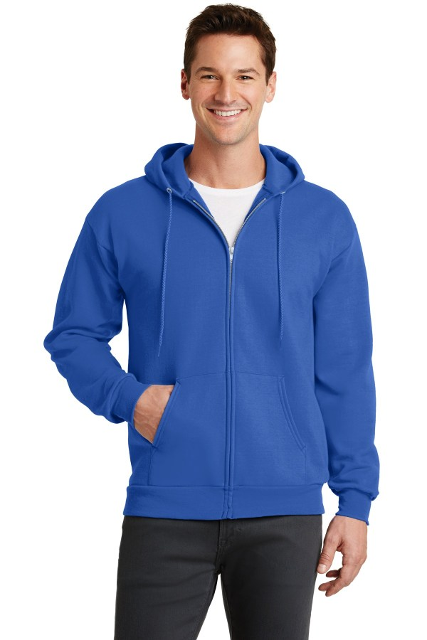 Port & Company - Core Fleece Full-Zip Hooded Sweatshirt. PC78ZH