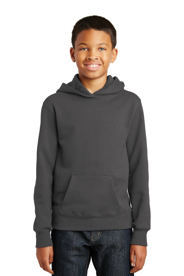 Port & Company Youth Fan Favorite Fleece Pullover Hooded Sweatshirt. PC850YH