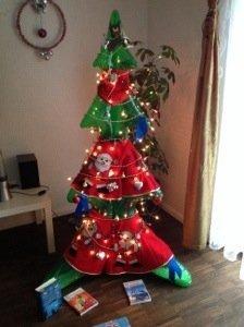 Aufblasbarer Weihnachtsbaum