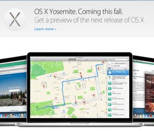 OS X Yosemite preview. Quelle: Apple.com