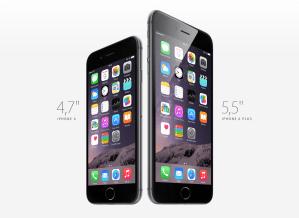 Bildschirmfoto Apple iPhone 6 und 6 Plus. Quelle: Apple.de