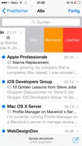 Apple Mail in iOS 8 auf dem iPhone