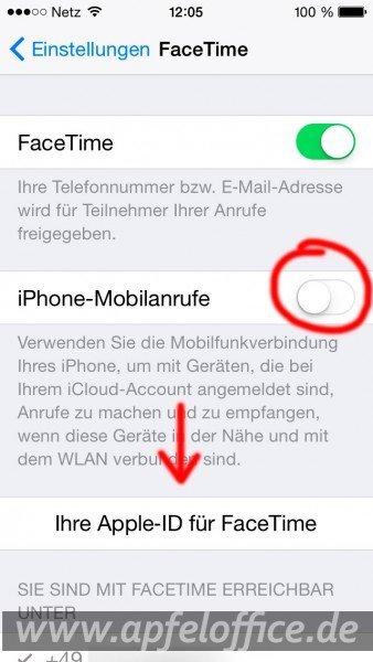 iOS8-Facetime-Einstellungen