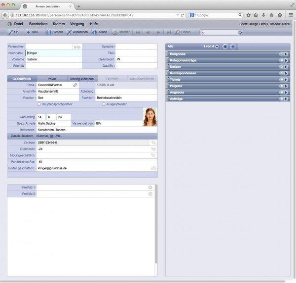 TOPIX WebSolution: Personaldatensatz