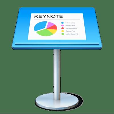 Keynote iWork App Icon. Quelle: Apple