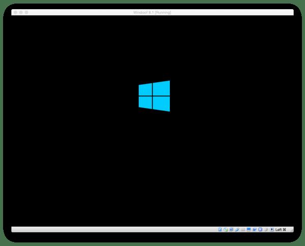 Nach dem Starten der VM bootet VirtualBox automatisch von der Windows-DVD und startet die Installations-Routine
