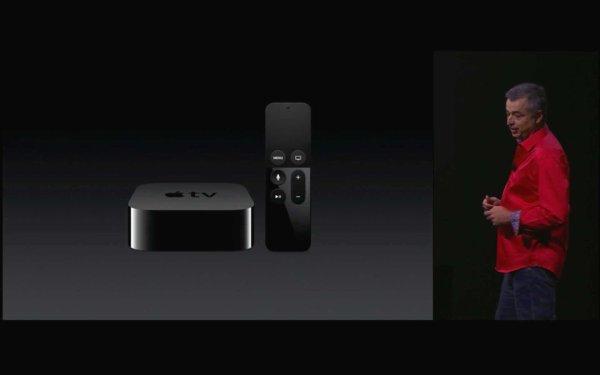 Präsentation des neuen Apple TV 2015. Quelle: Apple