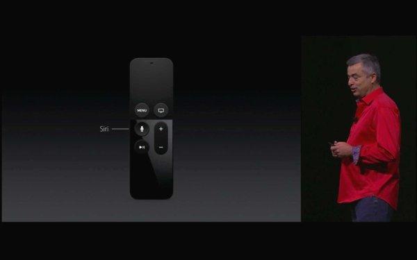 Spracherkennung mit Siri über die Fernbedienung des Apple TV 2015. Quelle: Apple