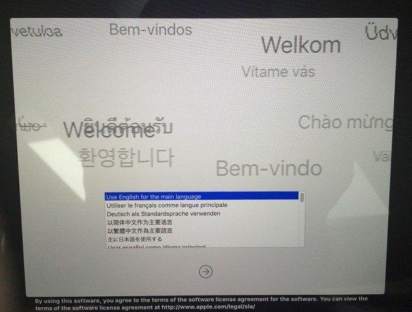 Nach dem Starten vom USB-Stick: Das Installationsprogramm begrüßt Sie. Fertig!