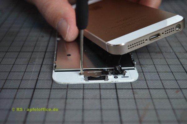 Abdeckung des Home Button im iPhone lösen