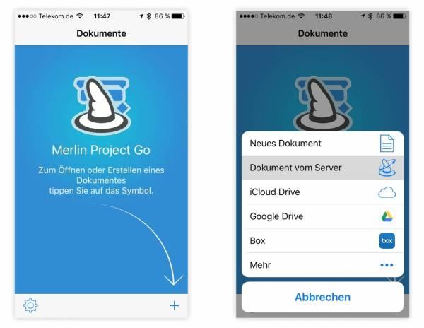 Merlin Project Go für iPad & iPhone bearbeitet Dokumente aus beliebigen Quellen. Bild: ProjectWizards