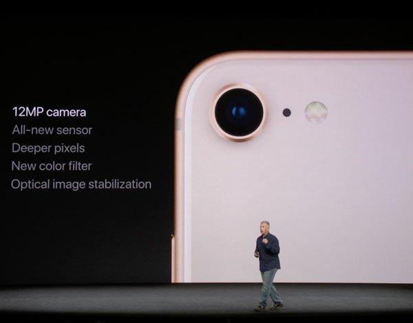 iPhone 8 Kamera, wie auf der Keynote vorgestellt. Quelle: Apple