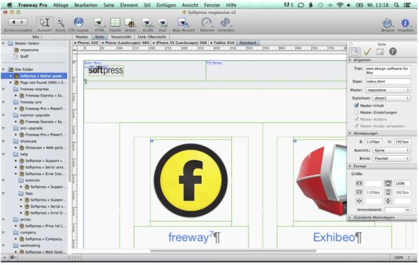 Webseite am Mac erstellen mit Freeway Pro