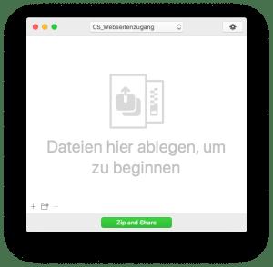 Drag-and-Drop Versand von verschlüsselten Zip-Archiven