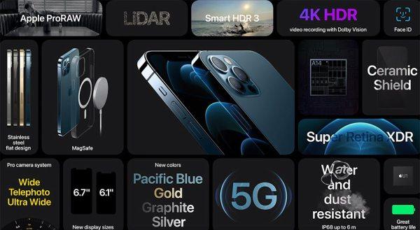 Apple iPhone 12 PRO ©Bild: Screenshot der Apple Keynote vom 13.10.2020