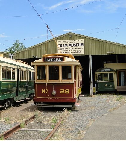 Ballarat has a Tram Museum (pictured), while Bendigo has a Talking Tram (but not a freaky one like Thomas the Tank Engine).
