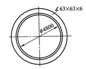 1-19 Outer angle steel ring