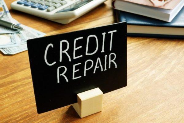 Credit repair plate in the office