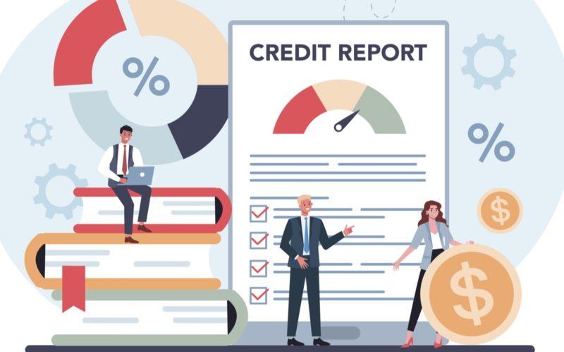 credit report graphic conceptv