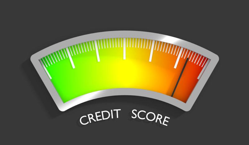 credit score calculation meter