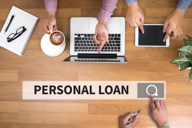 searching for personal loan concept