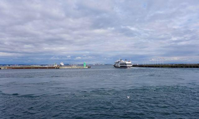 Blick nach Schweden vom Hafen aus