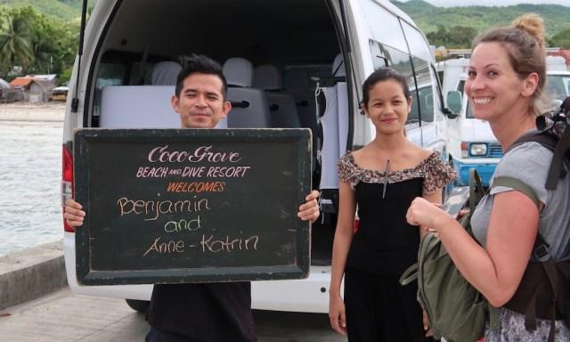Abholservice vom Coco Grove Resort begrüßt Benjamin and Anne-Katrin