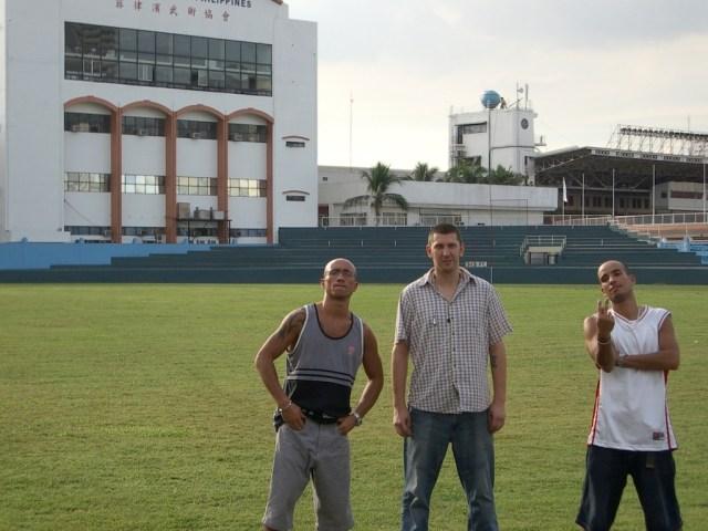 Dennis, Egozentrik und Bendja at Philippine Sports Commission