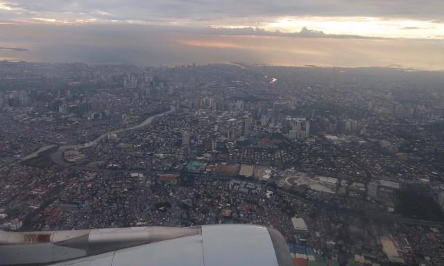 Manila vom Flugzeug fotografiert