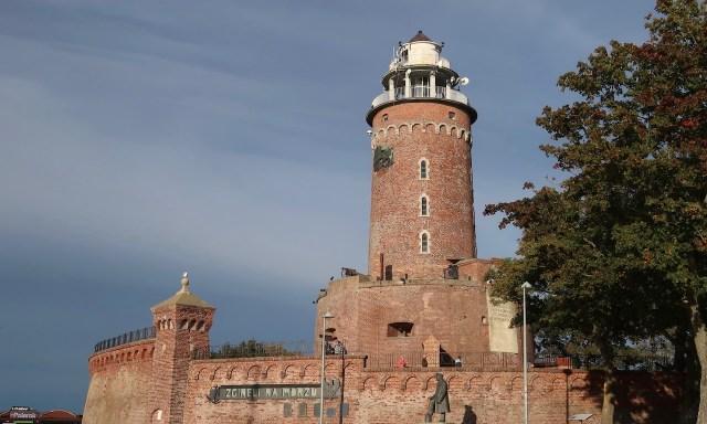Der Leuchtturm von Kolberg bei gutem Wetter