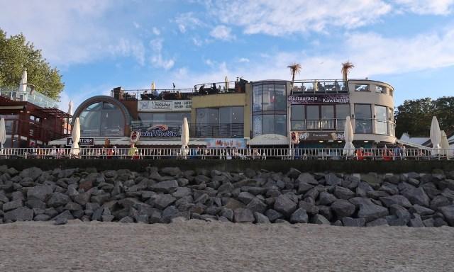 Restaurants an der Strandpromenade von Kolberg