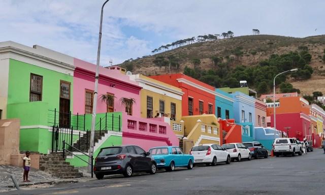 Bo-Kaap Viertel Bunte Häuser