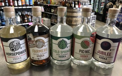 New: Oregon Grain Growers Vodka, Ewing Young Gin, Blue Chair Key Lime, GlenDronach 21 yr