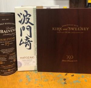 Kirk and Sweeney Rum, Balvenie 17, Hatoazakki Japanese