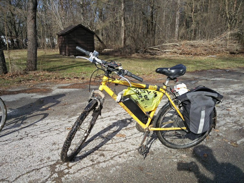 Ben's eBike, out in the Fanshawe Conservation Area