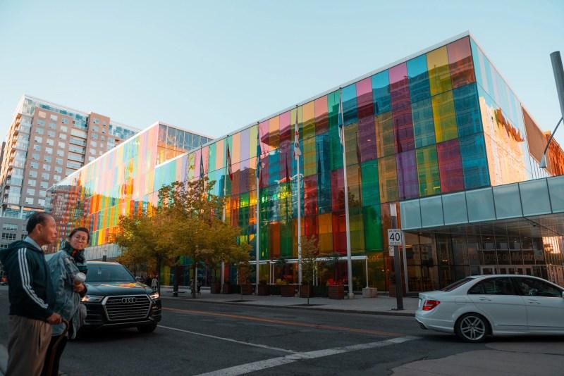 The Montreal Convention Centre / Palais des congrès de Montréal during the first day of Autumn.