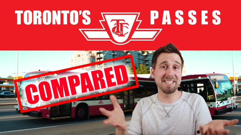 Text reading Toronto's TTC Passes COMPARED on top of ben with his hands up, smiling... ready to talk!