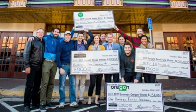 The 2017 Bend Venture Conference's big winner, Justin Johnson and the LeadMethod team