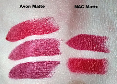 Avon Perfectly Matte Swatch Comparison