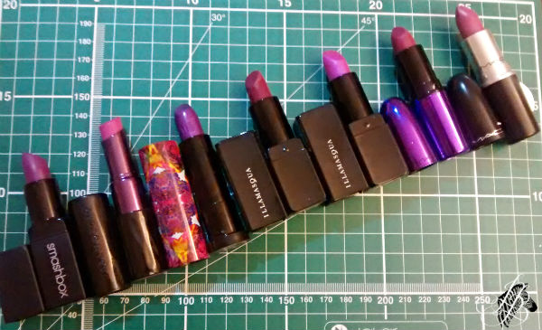 Purple Lipstick Line Up